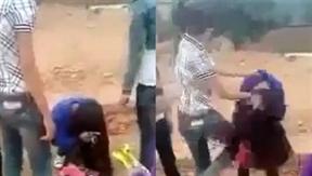 Clip nữ sinh đánh bạn dã man: Đòi quà hộ anh trai