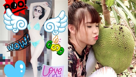 [Facebook-Sao] Phi Thanh Vân uốn éo, Khởi My ăn mít 'khổng lồ'