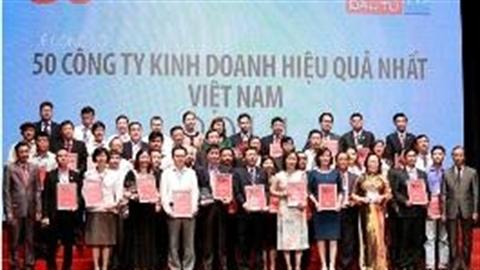 50 công ty kinh doanh hiệu quả nhất Việt Nam 2014