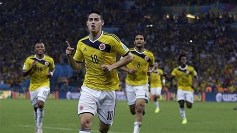 Colombia – Uruguay 2-0: James vượt mặt Messi lẫn Neymar