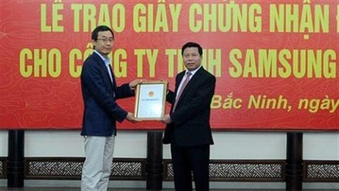 Bắc Ninh gấp rút trao chứng nhận đầu tư cho Samsung Display