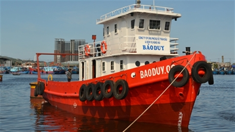 Hình ảnh tàu thép hậu cần sẵn sàng ra biển