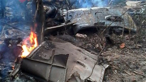 Hiện trường vụ tai nạn trực thăng tại Hòa Lạc