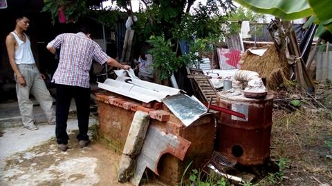 Thảm cảnh lò đốt rác phát điện của nông dân Thái Bình