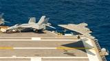 Hình ảnh X-47B thử nghiệm khả năng phối hợp bay với F/A-18