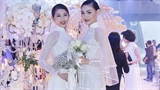 Áo dài cưới Nguyễn Công Trí sải bước cùng thiết kế Oscar De La Renta