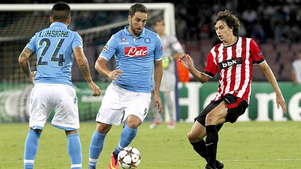 Video Napoli 1-1 Athletic Bilbao: Higuain cứu Partenopei