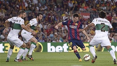 Messi tỏa sáng, Barca thắng tưng bừng