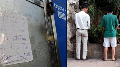 Khóa cửa vệ sinh công cộng, người du lịch... bí