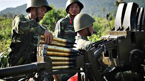 Xem pháo phòng không 37mm tác chiến