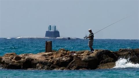 Lộ ảnh Israel nhận tàu ngầm tàng hình của Đức