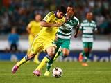 Pha va chạm rùng mình của Costa khiến cầu thủ Sporting vỡ mũi