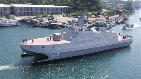 Cận ảnh tàu tên lửa tàng hình 2 thân của Đài Loan