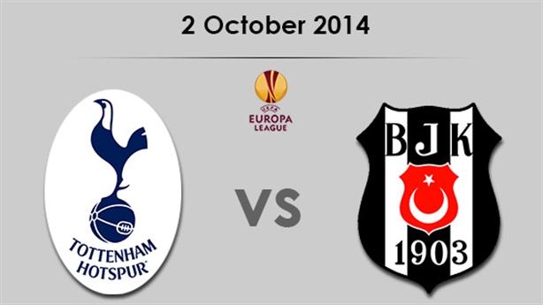 02h05 ngày 03/10/14, Tottenham - Besiktas: Đối đầu cường đạo