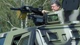 Xe chiến đấu KrAZ Cougar nhận nhiệm vụ tại miền Đông Ukraine