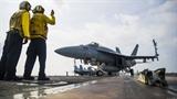 Tiêm kích F/A-18 cất cánh với kịch bản đề phòng Trung Quốc