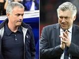 "So tài các HLV: Ancelotti cho Mourinho ""ngửi khói"""