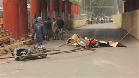 Tai nạn đường sắt trên cao: Đình chỉ nhà thầu Trung Quốc