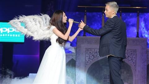 Khổng Tú Quỳnh hóa thiên thần bay lượn không trung song ca cùng Ngô Kiến Huy