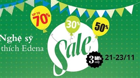 Edena Crazy Sale cực lớn mừng sự kiện đặc biệt