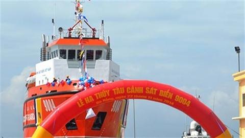 Hình ảnh Lễ hạ thủy tàu CSB 9004