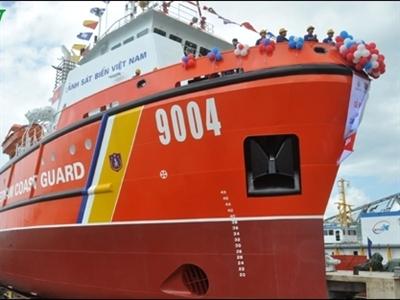 Hạ thủy tàu Cảnh sát biển đa năng 9004 tại Đà Nẵng