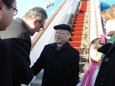 Tổng Bí thư đến Thủ đô Moscow bắt đầu thăm chính thức Liên bang Nga