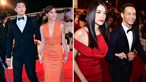 Những 'cặp đôi' đẹp lộng lẫy trên thảm đỏ LHP Quốc tế Hà Nội 2014