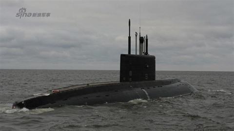Tàu ngầm Kilo 636 của Nga chạy thử nghiệm trên biển Baltic