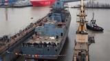 Cận cảnh lễ hạ thủy siêu hạm mạnh nhất của Nga