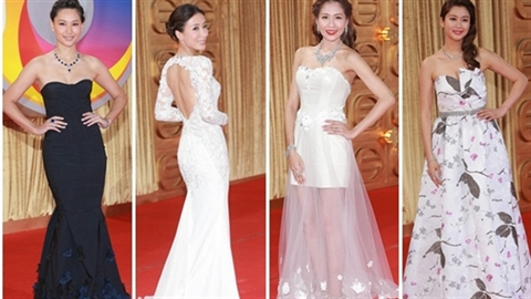 Những thân hình 'nuột nà' trên thảm đỏ Lễ trao giải TVB 2014