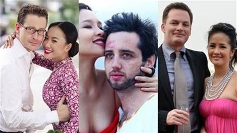 4 ông chồng ngoại quốc đẹp trai giàu có của Sao Việt