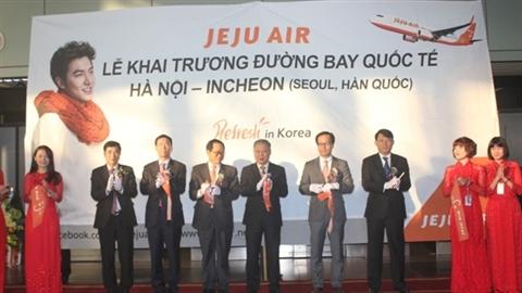 Hãng hàng không Jeju Air chính thức mở đường bay thẳng HàNội-Seoul-HàNội