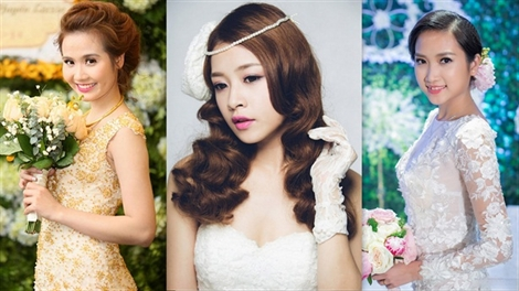 Đo độ xinh đẹp của các hot girl khi làm cô dâu