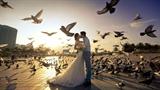Độc quyền: Bộ ảnh cưới cực đẹp với hàng ngàn chú chim của diễn viên Nhật Kim Anh