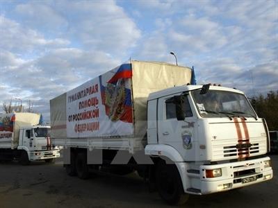 Đoàn xe cứu trợ thứ 10 của Nga cho Ukraine sắp lên đường