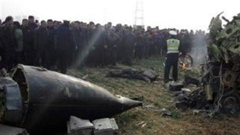 Trung Quốc rơi máy bay quân sự