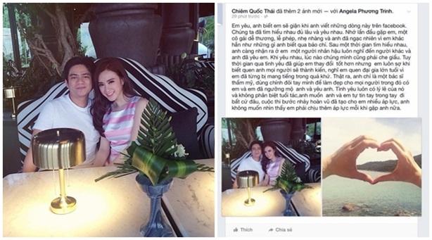 'Người yêu tin đồn' công khai xin lỗi Angela Phương Trinh trên Facebook