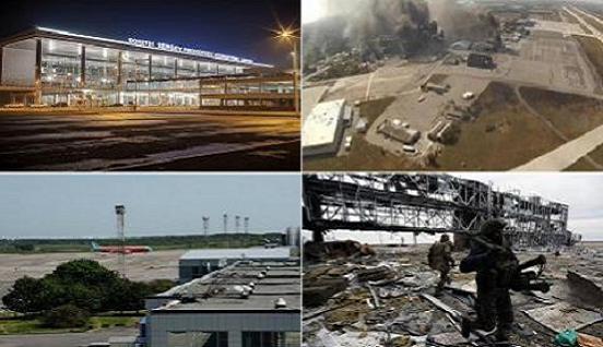 Video pháo bắn như mưa, sân bay Donetsk đã thất thủ?