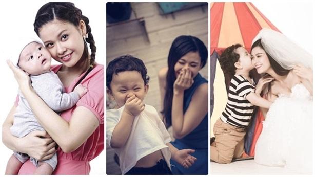 Những khoảnh khắc 'kết dính' ngọt ngào của Trương Quỳnh Anh và con trai