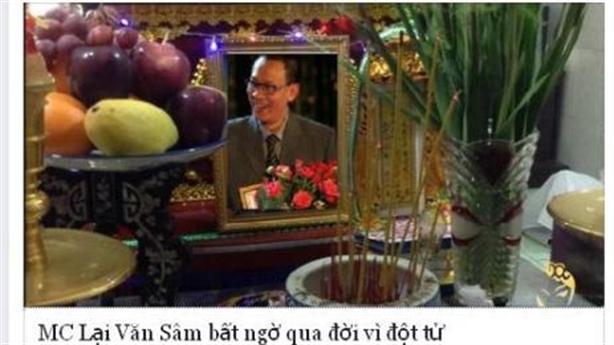 MC Lại Văn Sâm bị đồn đã đột tử