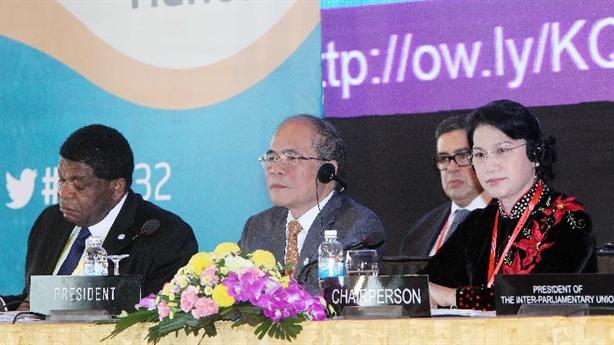 Hội nghị IPU-132: VN nêu vấn đề hòa bình trên Biển Đông