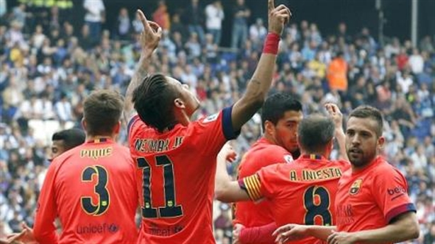 Espanyon 0-2 Barcelona: MSN cuốn trôi derby Catalan