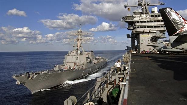 Sức mạnh chiến hạm Mỹ đi 'giải cứu' tàu hàng tại Iran
