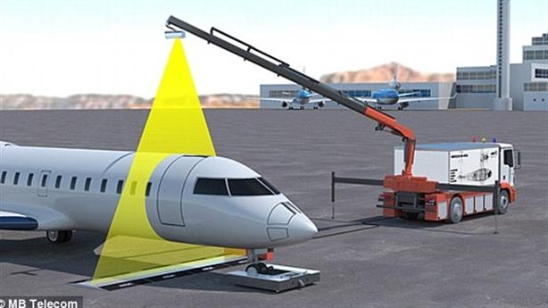 Máy quét X-quang kiểm tra vũ khí, ma túy trên máy bay