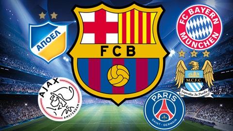 Barcelona đánh bại đương kim vô địch Hà Lan, Anh, Pháp, Đức
