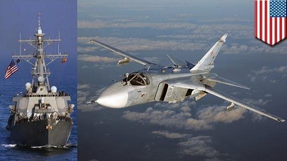 Siêu hạm Aegis Mỹ lại bị Su-24 đuổi chạy trên biển Đen