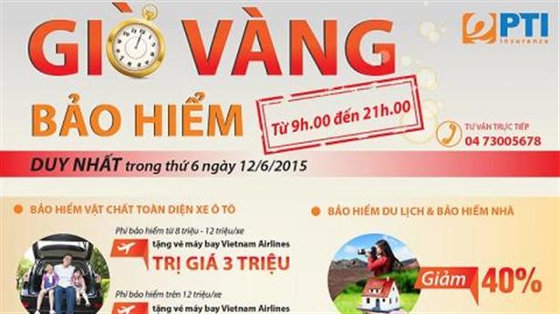 Nhận vé Vietnam Airlines trong giờ vàng bảo hiểm