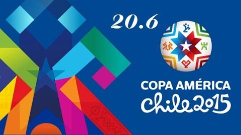 Kết quả và bảng xếp hạng Copa America ngày 20/6