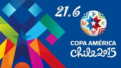 Kết quả và bảng xếp hạng Copa America ngày 21/6